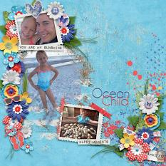 Layout by Kathryn using Hello Sunshine - Wordstrips