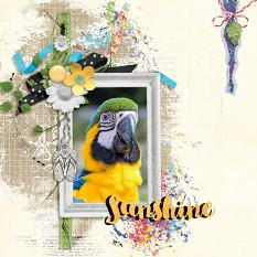 Layout by Anne using Hello Sunshine - Clipping Masks
