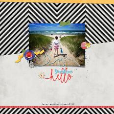 Layout by Heidi using  Hello Sunshine - Mish Mash