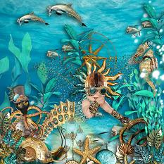 layout using 20,000 Leagues Under the Sea collection by d's design