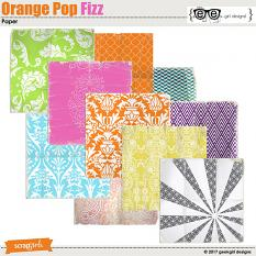 Orange Pop Fizz Papers