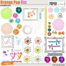 Orange Pop Fizz Embellishments