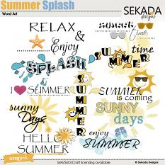 Summer Splash Word Art