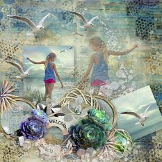 layout using Sea Sun Sand Collection Biggie by florju designs