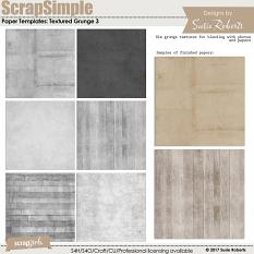 ScrapSimple Paper Templates: Textured Grunge 3
