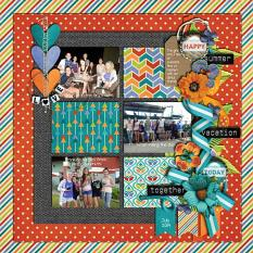 Layout by Joanna using ScrapSimple Embellishment Templates: Oh My Ribbons 11