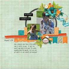 Layout by Kim using ScrapSimple Embellishment Templates: Oh My Ribbons 11