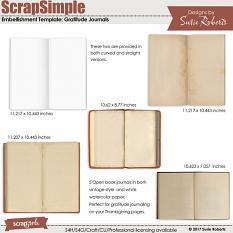 ScrapSimple Embellishment Templates: Gratitude Journals