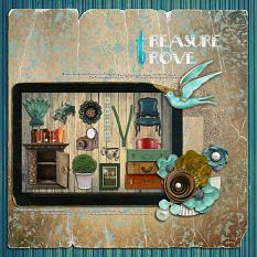 Treasure Trove Layout by geekgirl designs