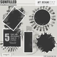 ScrapSimple Embellishment Templates: Sun Filled Mask Framess by  AFT designs @ScrapGirls.com #digitalscrapbook #photomask #artjournal