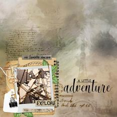 layout using Traveler's Notebook Embellishment Cluster Pack 1 by Florju designs