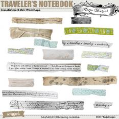 Traveler's Notebook Embellishment Washi Tape by florju designs