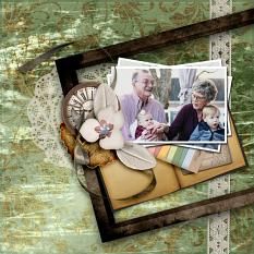 Layout using Genealogy Collection by Caroline B.