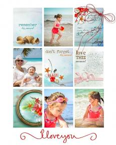 layout using Pocket Life:Tropical Sea  by florju designs