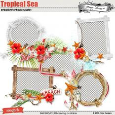 Tropical sea Embellishment Mini: Cluster Pack 1 by florju designs