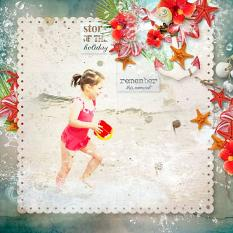 layout using Tropical sea Embellishment Mini: Cluster Pack 3 by florju designs