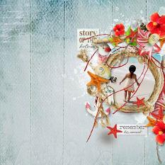 layout using Tropical sea Collection Biggie by florju designs