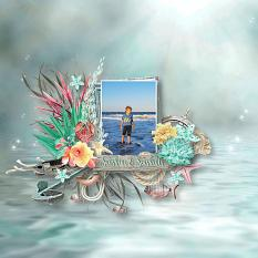 layout using sea, sand & sun value pack by d's design