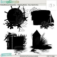 sea, sand & sun clipping masks by d's design