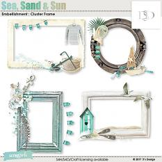 sea, sand & sun clusters frames by d's design