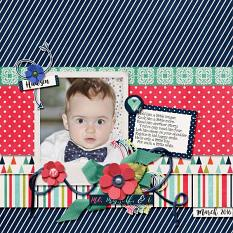 Layout by Kathryn using ScrapSimple Embellishment Templates: Oh My Ribbons 13