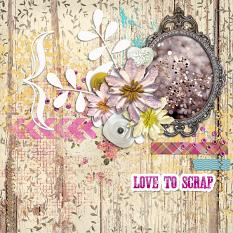 Love To Scrap Layout by geekgirl designs
