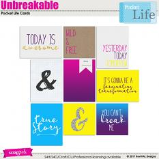 Unbreakable Pocket Life cards by ReviVAL Designs