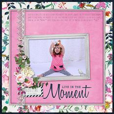 """Adeline"" digital scrapbook layout by April Martell"