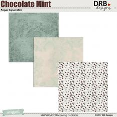 Chocolate Mint Paper Super Mini by DRB Designs | ScrapGirls