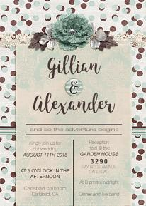 Wedding Invitation designed by Andrea Hutton