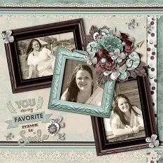 """YOU"" digital scrapbook layout by Vikki Lamar"