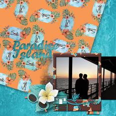 Paradise Island, LO made using Pacific Cruise Collection Super Mini by Caroline B.