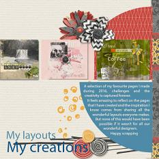 """My Fav"" digital layout showcases SSDLAT: 12x24 Scrap It Monthly 3 Series 3"