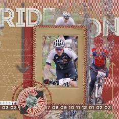 "Digital Scrapbooking Layout ""Ride On"" by AFT Designs - Amanda Fraijo-Tobin @ScrapGirls.com using Overlays - Watercolor Washes Templates #photoshop #scrapbook"
