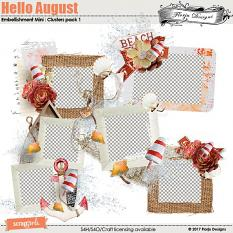 Hello August Embellishment Mini: Cluster Pack 1 by florju designs