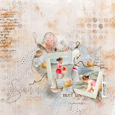 layout using Hello August Embellishment Mini: Cluster Pack 1 by florju designs