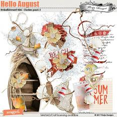 Hello August Embellishment Mini: Cluster Pack 2 by florju designs