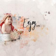 layout using Hello August Word Art & Word tag by florju designs