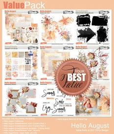 Value Pack: Hello August by florju designs