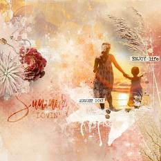 layout using Value Pack: Hello August by florju designs
