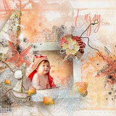 layout using Hello August Collection by florju designs