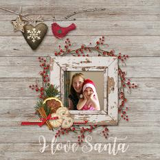 I Love Santa - Page by Susie Roberts