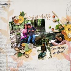 Digital scrapbooking layout, using Sunflower Collection Biggie