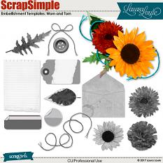 ScrapSimple Embellishment Set: Worn and Torn