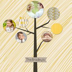 Modern Family Tree Video Lesson scrapbook page