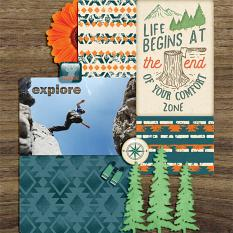 """Life Begins"" digital scrapbook layout by Darryl Beers"