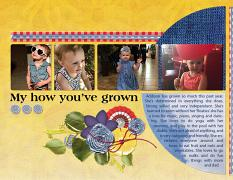 """Tiny Addison"" digital scrapbook layout features ScrapSimple Digital Layout Album Templates: 8.5x22 Scrap It Monthly 3 Series 3"