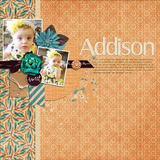 Layout by Bea using ScrapSimple Embellishment Templates: Tag Along 4