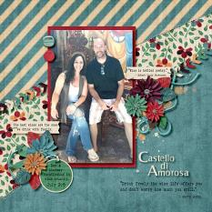 Layout by Kathryn using ScrapSimple Embellishment Templates: Papery Leaves Vol. 4