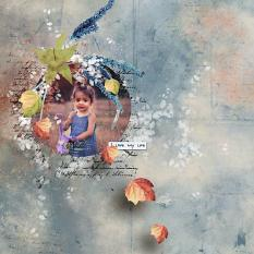 layout using GoodBye Summer Addon Paper by florju designs